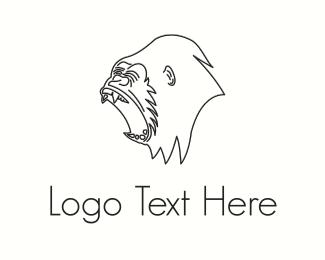 Gorilla - Black Gorilla  logo design