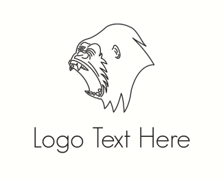 Draw - Black Gorilla  logo design