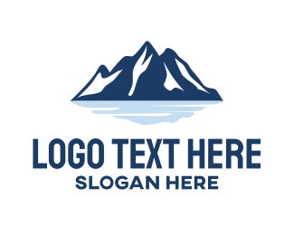 Snow - Blue Mountain logo design