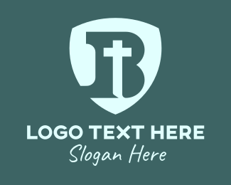 Church - Christian B Shield logo design