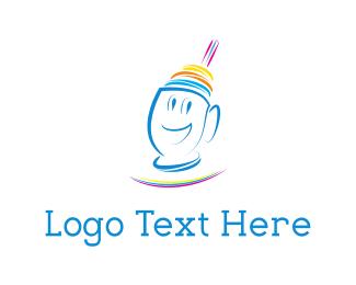 Straw - Happy Shake logo design