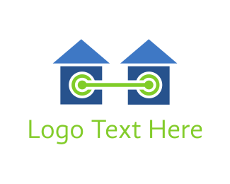 Connect - Homes Connected logo design