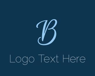 Sleek - Blue Elegant B logo design