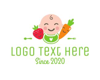 Strawberry - Baby Food logo design