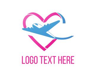 Honeymoon - Love & Flight logo design