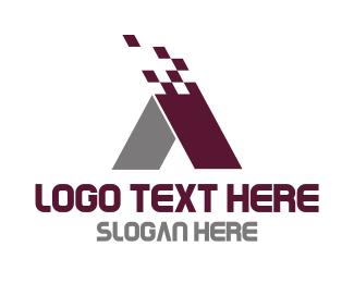 Grey - Modern Letter A logo design
