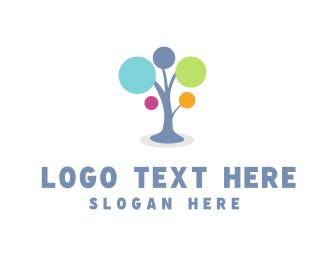 Primary School - Bubble Tree logo design
