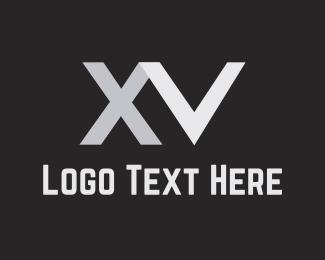 Aluminium - X & V logo design