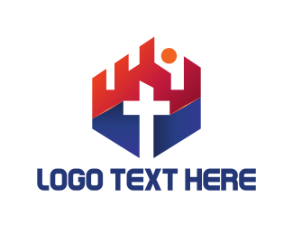 Red Cross - Church Cross logo design