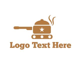 Tank - Army Pot logo design