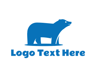 Cold - Blue Polar Bear logo design