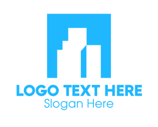 Condominium - Blue Box Buildings logo design