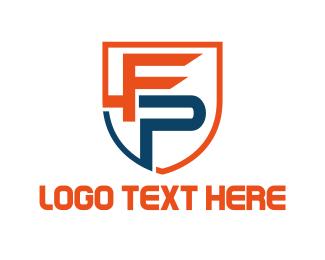 Shield - F & P logo design