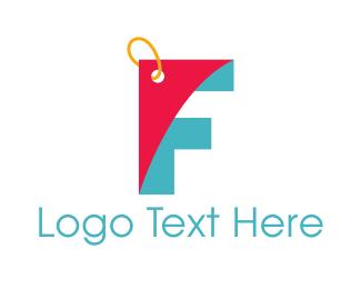 Coupon - Letter F Coupon logo design