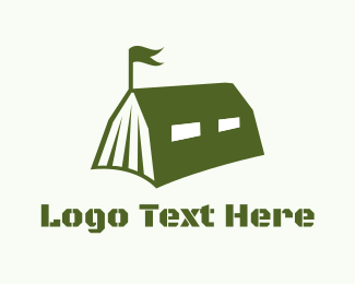 Army - Military Tent logo design