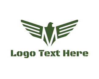 Army - Military Eagle Emblem logo design