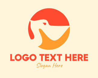 Heron - Blue Pelican Circle logo design
