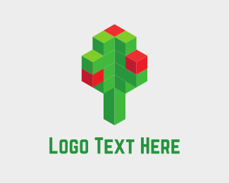 Pixel - Digital Tree logo design