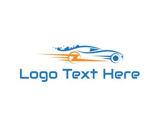 Vehicle - Lightning Car logo design