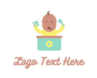Boy And Girl - Cute Baby logo design