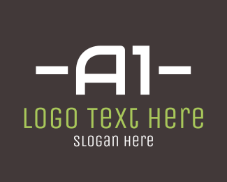 Dj - A1 Text logo design