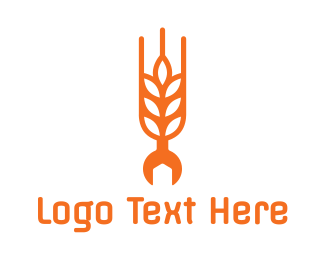 Agribusiness - Rice Grain Wrench  logo design