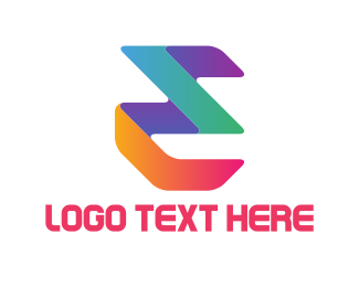 Letter E - Colorful E logo design
