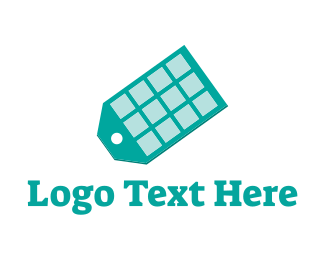 Solar Panel - App Tag logo design