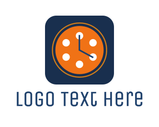 Minute - Film Reel Clock logo design