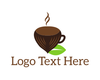 Coffee - Hazelnut Cup logo design