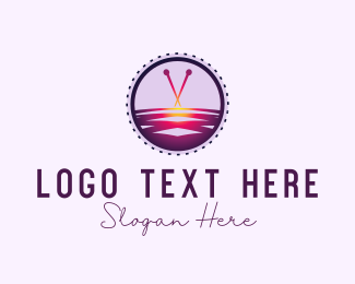 Sew - Cross Stitch logo design