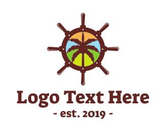 Boating - Caribbean Cruise logo design