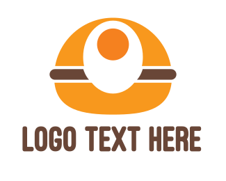 Food Chain - Egg Burger logo design