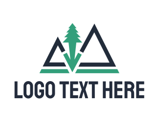 Rock - Peak Tree logo design