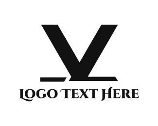 Stylish - Black V logo design