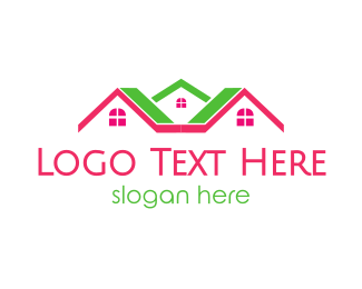Neighborhood - Pink Green Neighborhood logo design