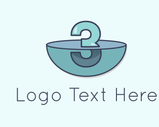 Number 3 - Underwater Three logo design
