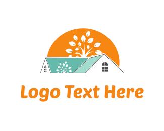 Rent - Sunrise & Home logo design
