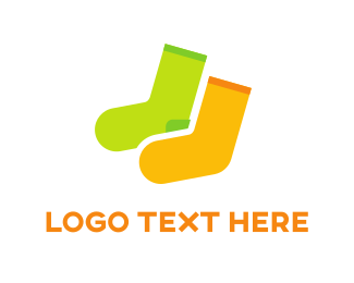 Feet - Socks Duo logo design