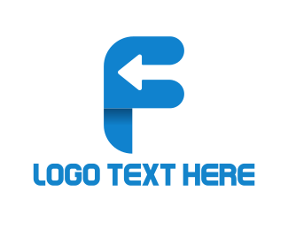 Letter - Arrow Letter F logo design