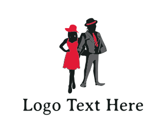 Dress - Elegant Couple logo design