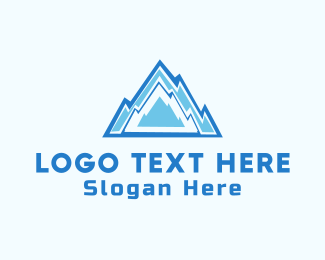 Winter - Ice Mountain  logo design