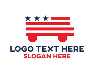School Bus - American Truck logo design
