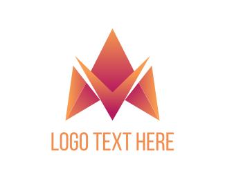 Badge - Letter M Triangle logo design