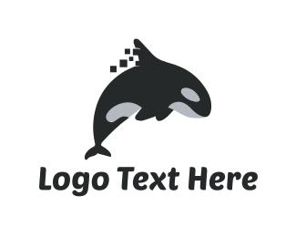 Whale - Killer Whale logo design