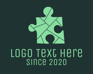 Puzzle - Grey Puzzle logo design