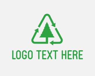 Sustainability - Green Tree Recycle logo design