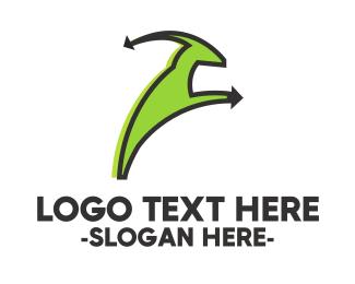 Capricorn - Green Goat logo design