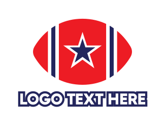 America - USA Football logo design