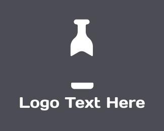 Drinking - White Bottle  logo design